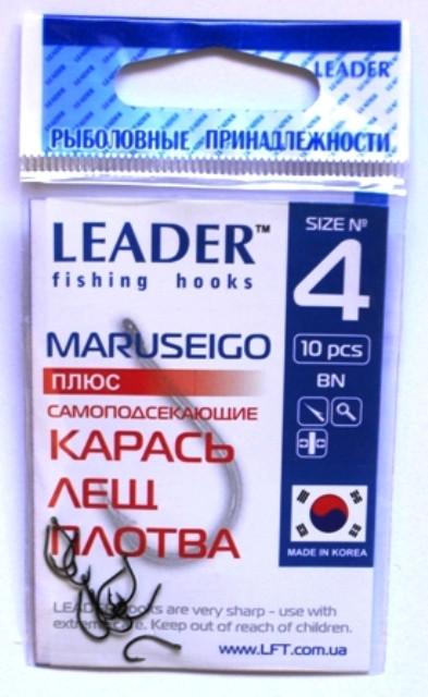 Крючки Leader MARUSEIGO BN №4, 10шт