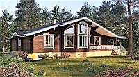 Деревянный дом из профилированного клееного бруса 17х12 м, фото 1