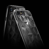 """Бронированный противоударный силиконовый чехол Ringke Air Prism для Apple iPhone 7 / 8 (4.7"""") Черный / Ink black"""