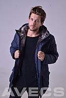 Куртка мужская зимняя синяя Avecs AV-981C Размеры 48/M 50/L 56/3XL