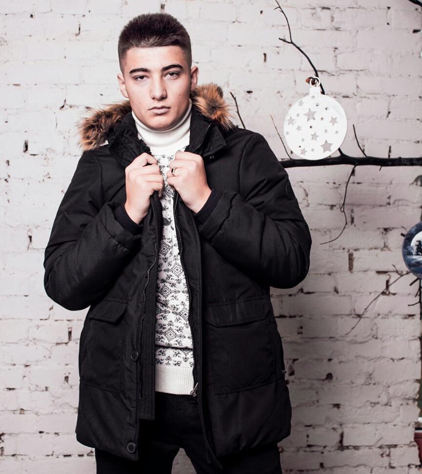 Куртка мужская зимняя черная - MILLIONAIRE оптом мужская одежда в Черновцах 6d75d3bb4dff4