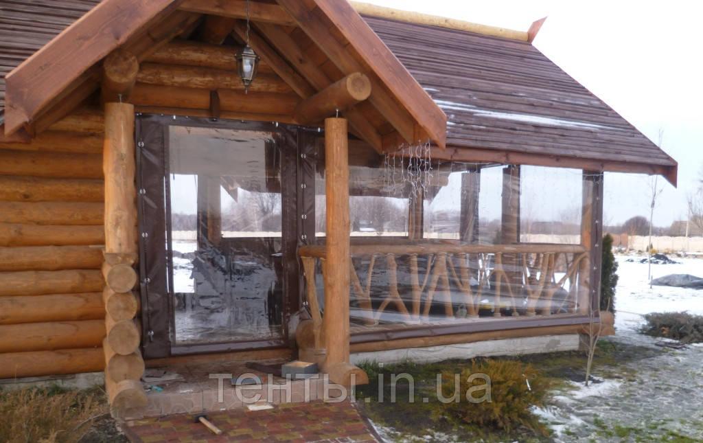 Утеплення зрубів, альтанок прозорими шторами ПВХ