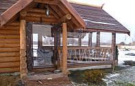Утеплення зрубів, альтанок прозорими шторами ПВХ, фото 1