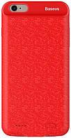 Чехол-аккумулятор Baseus Plaid для iPhone 6 Plus/6s Plus 3600mAh Красный