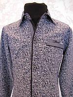 Рубашка с налокотниками  для мальчика 128 роста Синяя