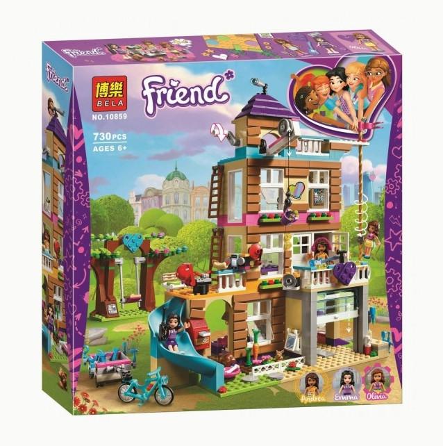"""Конструктор Bela Friends 10859 """"Дом дружбы"""" (аналог Lego Friends 41340), 730 дет"""
