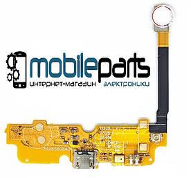 Шлейф (Flat cable) LG D325 Optimus L70 с разъемом зарядки, с микрофоном