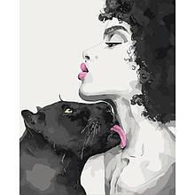 Картина по номерам Поцелуй пантеры