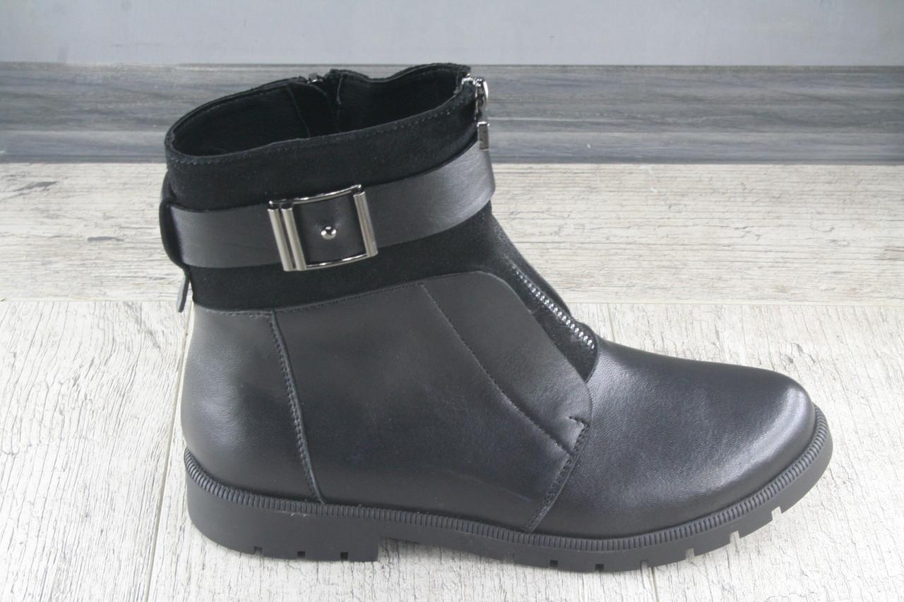 Ботинки, полуботинки женские Foot Step, обувь демисезонная из натуральной кожи на флисе, Украина