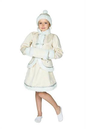 """Детский карнавальный костюм """"Снегурочка New"""" для девочки, фото 2"""
