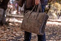 Мужской кожаный портфель 4393 хаки, фото 1