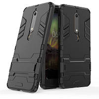 Чехол Nokia 6.1 / Nokia 6 New 2018 Hybrid Armored Case черный