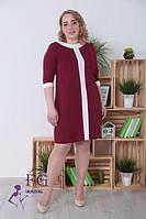 Платье свободного кроя на каждый день 48-54 размеры