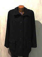 Стильное Шерстяное Пальто от Janet Joyce Размер: 58-XXL, XXXL
