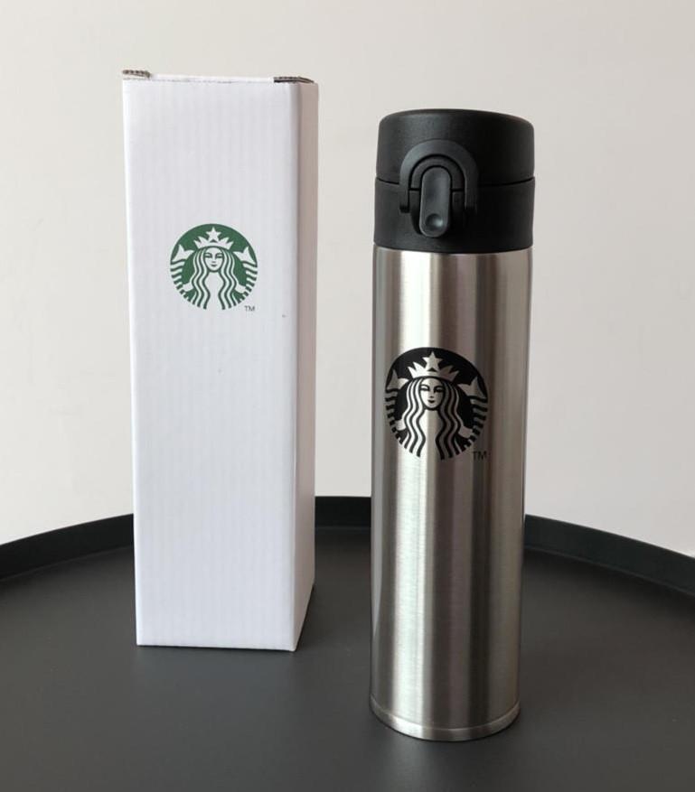 Термос Starbucks (Старбакс) MH 600, серебро лого, фото 1