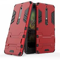 Чехол Nokia 6.1 / Nokia 6 New 2018 Hybrid Armored Case красный