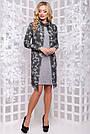 Женское платье, размеры от 44 до 50, серое с принтом, стильное, элегантное, деловое, повседневное, фото 3