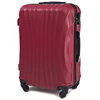 Большой пластиковый чемодан Wings 159 на 4 колесах красный, фото 1
