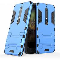 Чехол Nokia 6.1 / Nokia 6 New 2018 Hybrid Armored Case голубой