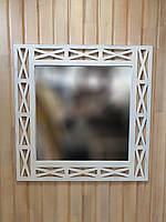 """Зеркало настенное ДРЕВОДЕЛЯ """"Версаль"""" 88х88х1,5см Белая патина (070601), фото 1"""