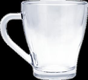 Кружка стеклянная для кофе 250 мл, фото 2