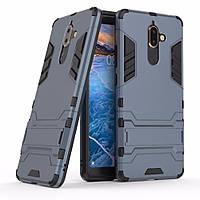 Чехол Nokia 7 Plus Hybrid Armored Case темно-синий