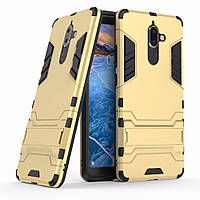 Чехол Nokia 7 Plus Hybrid Armored Case золотой