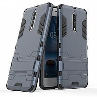 Чехол Nokia 8 Hybrid Armored Case темно-синий