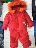 Зимний костюм красный девочка  80-92 рост, фото 1