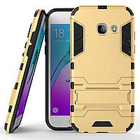 Чехол Samsung A320 / A3 2017 Hybrid Armored Case золотой, фото 1