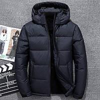 Мужская  Зимняя  куртка  с капюшоном синтепон 200, (зима-осень)