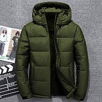 Мужская  Зимняя  куртка  с капюшоном синтепон 200, (зима-осень), фото 1