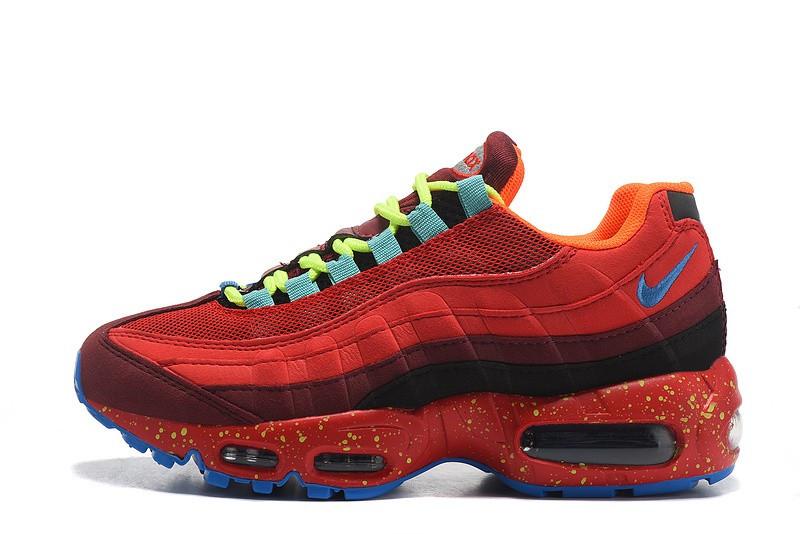 """Кроссовки Nike Air Max 95 OG """"Red/Blue"""" (Красные/Голубые)"""