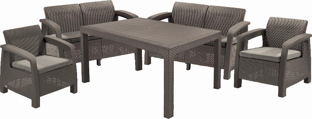 Набор мебели Keter Bahamas Fiesta, коричневый-серо бежевый (3253929183010)