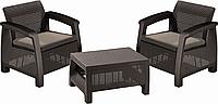 Набор мебели Keter Bahamas weekend, коричневый - серо-бежевый (3253929000522)