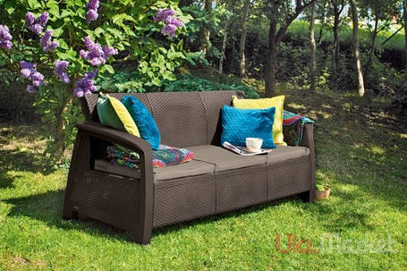 Софа Keter Bahamas love seat max, коричневый - серо-бежевый (3253929000485), фото 2