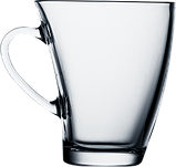 Кружка стеклянная с изгибом 170 мл, фото 3