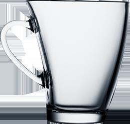 Кружка стеклянная с изгибом 170 мл, фото 2