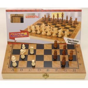 Шахматы 3 в 1 дерево (48 х 48 см), фото 1