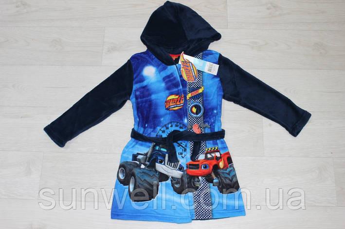 Детский халат с капюшоном для мальчиков Blaze, 3 года, фото 2
