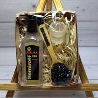 Подарочный набор Мыло Водка с черной икрой оригинальный подарок мужчине