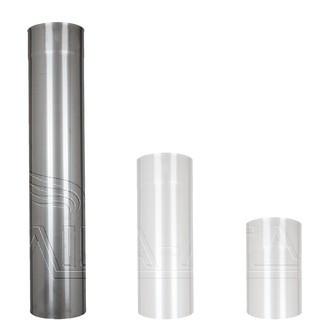Одностенная дымоходная труба из нержавеющей стали D 120 мм, L 1 м