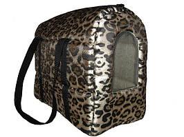 Сумка-переноска для кошек «Леопард», 40х20х30 см