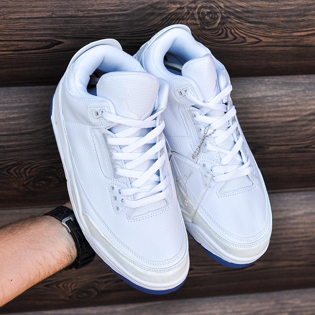 Кроссовки в стиле Nike Air Jordan 3 White (Реплика ААА+)