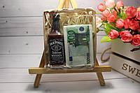 Подарочный набор Мыло Jack Daniels & 100 Euro оригинальный подарок на 14 февраля День влюбленных