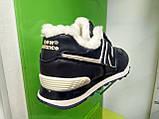 Чоловічі зимові кросівки New Balance 574 Winter Blue, фото 3