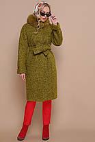 Зимнее кашемировое пальто с натуральным мехом размер 56!!!, фото 2