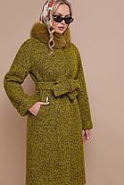 Зимнее кашемировое пальто с натуральным мехом размер 56!!!, фото 3