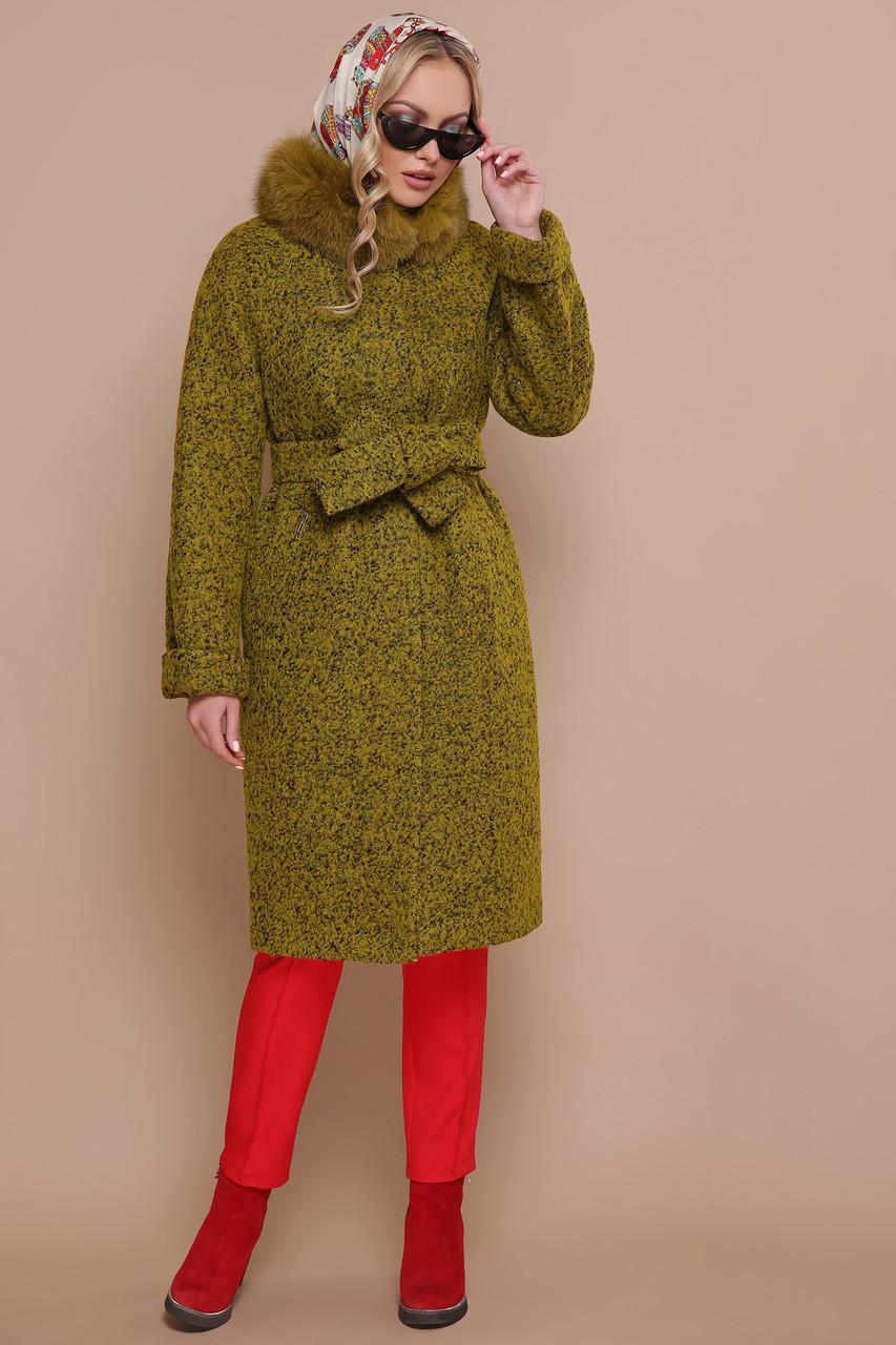 Зимнее кашемировое пальто с натуральным мехом размеры 42 размер