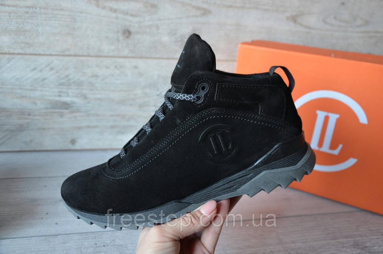 bba0e4587 Зимние мужские ботинки Level, натур. мех, замша, черные : продажа ...